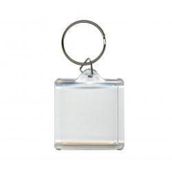 Брелок квадрат «Plast Style» пластик акрил прозрачный печать с одной стороны