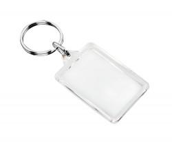 Брелок прямоугольник «Plast Style» пластик акрил прозрачный печать с двух сторон