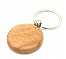 Брелок овал/круг «Venner Style » дерево печать с одной стороны
