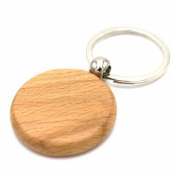 Брелок овал/круг «Venner Style » дерево печать с двух сторон