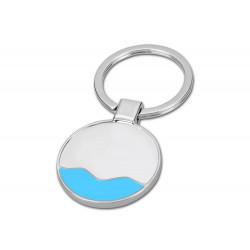 Брелок овал/круг «Plast Style 2 » пластик акрил прозрачный полноцвет + белый печать с одной стороны