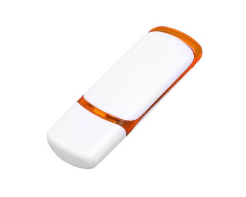 Флешка пластиковая USB 2.0 на 16 Гб с цветными вставками печать с двух сторон