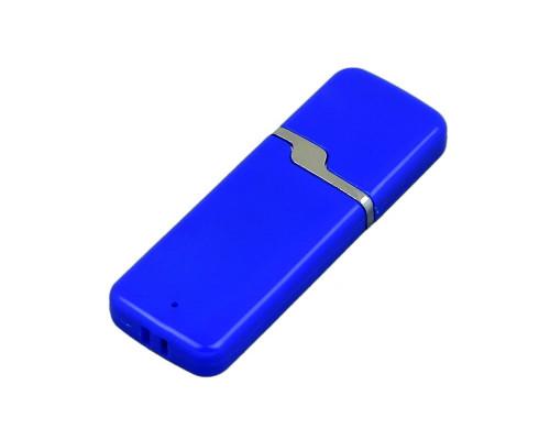 Флешка пластиковая USB 2.0- флешка на 16 Гб с оригинальным колпачком полноцветная печать + белый с двух сторон