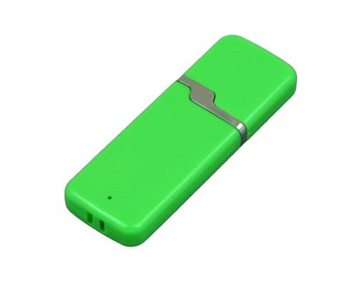 Флешка пластиковая USB 2.0- флешка на 16 Гб с оригинальным колпачком полноцветная печать с двух сторон